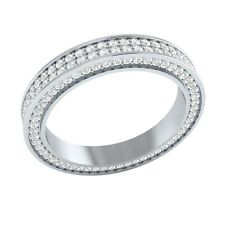 1.10 ct Real Certified Diamond Solid Gold Full Eternity Wedding Band Ring Size 7