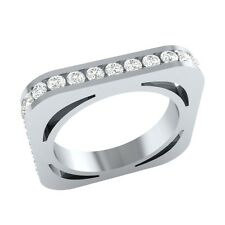 1.26 ct Real Certified Diamond Solid Gold Full Eternity Wedding Band Ring Size 7