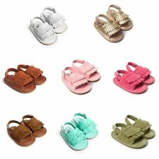 Infant Newborn Boy Girl Tassel Sandals Kid Baby Summer Prewalker Crib Sole Shoes