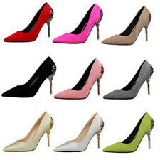 Fashionable Slim High Heels Stiletto Pointed Toe Women Shoes Suede Slip On Pumps