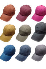 Women's Washed Twill 6 Panel Solid Baseball Cap / Hat