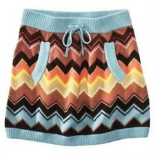 NEW! Missoni GIRLS Knit Sweater Skirt w/ pockets - Blue Colore Chevron
