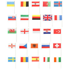 Pack of 12 Small National Country Flag Hand Waving Flags Banners 14 x 21cm