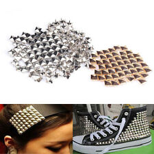 100Pcs DIY Spike Square Stud Rivet Fashion Punk Rock Design Bag Belt Craft
