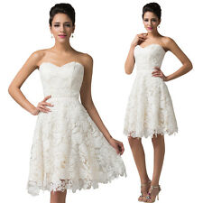 Lace Short Cocktail Dress Party Evening Bridesmaid Formal Prom Homecoming Dress