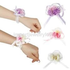 Wedding Bridal Prom Artificial Flower Wrist Corsage Bracelet Hand Decor Fashion