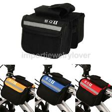 Bicycle Cycling Bike MTB Frame Front Tube Saddle Pannier Double Bag Phone Pouch