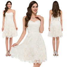 Short Evening Formal Party Ball Gown Prom Bridesmaid Wedding Dress 4/6/8/10/12++
