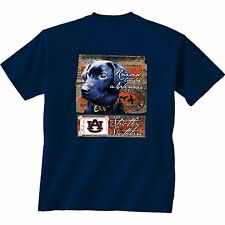 Auburn Tigers Unisex T-shirt - Raised To Be A Winner - Dog - Color Navy Blue