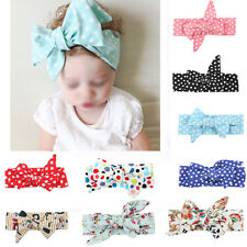 Infant Baby Bow Knot Headband Girls Turban Knot Head Wrap Kids Floral Hair Band