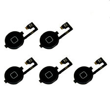 5X New Home Menu Button Flex Cable + Key Cap assembly for Apple iPhone 4 4G