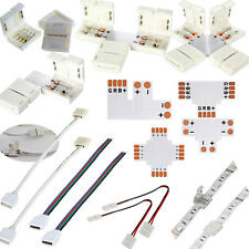 LED Strip Light Connector Adapter Cable Clip Solderless PCB 3528 5050 5630 RGB