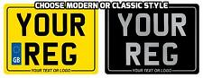 Modern / Classic REAR NUMBER PLATE Motorcycle Motorbike Bike printed SHOW PLATEs