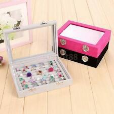 8 Grid Ring Brooch Pins Earring Jewelry Box Storage Organizer Container