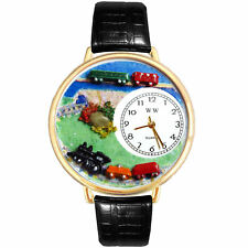 Trains Charm Watch w/ Personalized Miniature Gifts