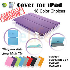 New Smart Cover and Hard Back Case for Apple iPad 4 3 2 iPad mini 123 iPad Air 2