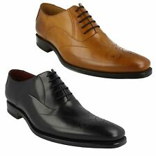 GUNNY MENS DESIGN LOAKE SMART LACE UP FRONT DETAIL LEATHER FORMAL SHOES FIT F