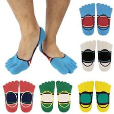 1 Pair Soft Striped Men's Invisible No Show Sock Five Toe Finger Socks