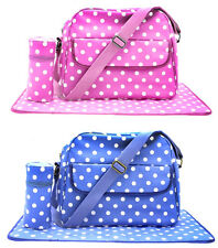 BABY CHANGING BAG WITH MAT & BOTTLE HOLDER BY LESSER & PAVEY LP71168