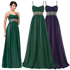 New Full-Length Spaghetti Strap Chiffon Masquerade Dress Evening Prom Party Gown
