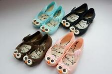 Kids Summer Cartoon Sandal Girl Owl Jelly Soft Shoes Size 6.5 - 9.5 Toddler