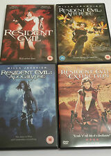 Resident Evil Collection 1-4 (DVD) Apocalypse, Afterlife & Extinction