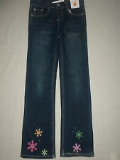 Gymboree CHEERY ALL THE WAY Denim Blue Jean Stretch Snowflake Gem Cuff Pants NWT