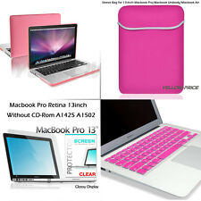 "Matte Laptop Case Sleeve Bag Keyboard Skin Film For Macbook Pro Retina 13"" 4 in1"