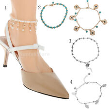 Beach Punk Multilayer Coin Tassel Chain Anklet Barefoot Sandals Foot Jewelry