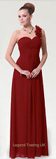 Long maxi summer dress, cruise, bridesmaid, prom, evening, burgundy red size 16