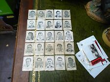 Barratt Cigarette cards Famous footballers x26