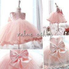 Newborn Baby Girl Flower Party Prom Christening Wedding Formal Princess Dress