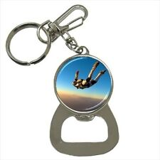 Sky Diving Bottle Opener Keychain and Beer Drink Coaster Set