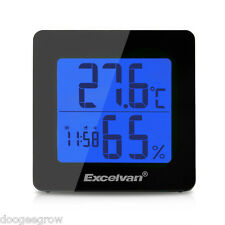 LCD Digital Alarm Clock Desk Alarm Snooze Thermometer Humidity Hygrometer Meter