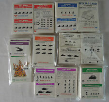 WARHAMMER EPIC 40K ARMY CARDS - ALL RACES INCLUDING 1ST EDITION CARD SET.