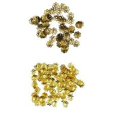 100pcs 8mm Dome Flower Loose Spacer Bead End Accent Caps Findings