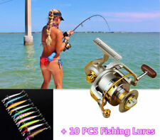 LTC Spinning Reel Saltwater Fishing Reel 10BB Ball Bearing + 10  Fishing Lures