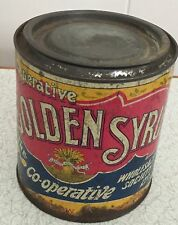 Authentic Inter War Co-operative 2lb Golden Syrup Tin - Advertising Vintage