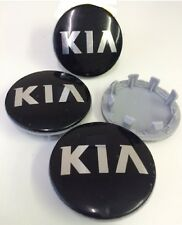 4 x KIA Alloy Wheel Hub Caps 59MM / 49MM Centre Caps For New Style KIA Black UK