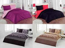Duvet Cover & Pillow Sham Set - 3 Piece Soft Bedding set 100% Cotton Queen/King