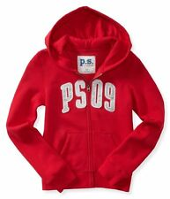 NWT PS Aeropostale Girls Size 7 Red Kids' PS09 Zip-Front Hoodie Sweatshirt NEW