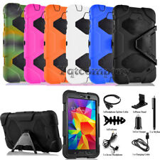 """Black Leather Case Cover Stand For Samsung Galaxy Tab 4 7.0"""" 7-inch Tablet T230"""