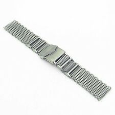 StrapsCo Stainless Steel H-Link Shark Mesh Band Milanese Mesh Watch Strap