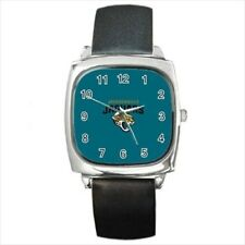 Jacksonville Jaguars Round & Square Leather Strap Watch - Football NFL