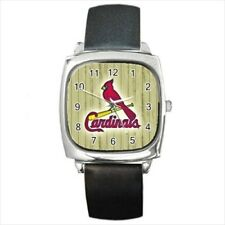 St Louis Cardinals Round & Square Leather Strap Watch - Baseball MLB