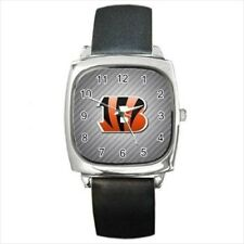 Cincinnati Bengals Round & Square Leather Strap Watch - Football NFL