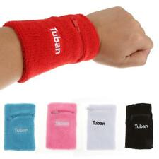 Cotton Wristband Zipper Pocket Sweatband Sports Wrist Band Armband - 5 Colors