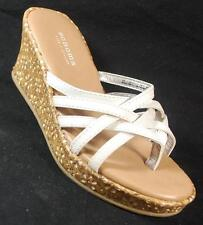 NEW Girl's Youth's SONOMA LUCINDA WHITE/SPARKLE Sandals Thong Wedge Dress Shoes