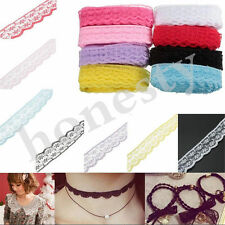 10 Yard 2CM  Unilateral Embroidered Net Lace Trim Ribbon DIY Sewing Craft