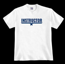 * INSTRUCTOR * tom Top cruise F-14A fighter jet Gun navy pilot 80's fan TSHIRT
